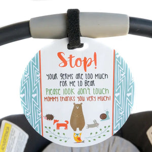 No Touching Car Seat and Stroller Tag - Woodlands