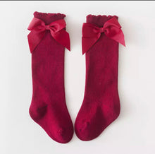 Load image into Gallery viewer, Knotted Bow Knee Socks