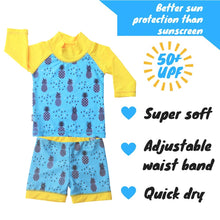 Load image into Gallery viewer, Baby/ toddler UV Shorts and Shirt Set - Pineapple