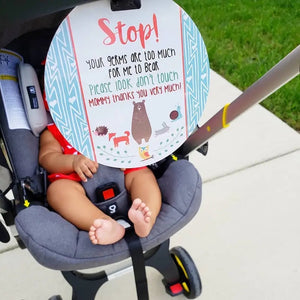 No Touching Baby Car Seat and Stroller Tag - Woodlands