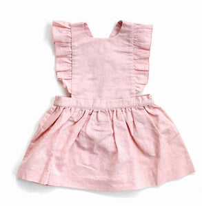Pinafore Baby Dress in Grey or Pink