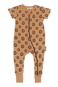Lion Print - 2 Way Zip Baby Romper