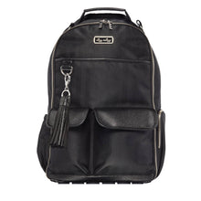 Load image into Gallery viewer, Itzy Ritzy Black Herringbone Boss Diaper Bag