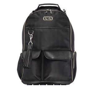 Itzy Ritzy Black Herringbone Boss Diaper Bag