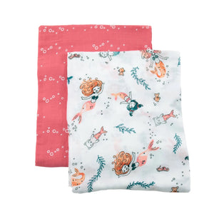 Luxury Swaddle Blankets - Mermaid & Bubbles