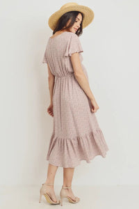 Rayon Gauze With Ruffled Ends Maternity Dress
