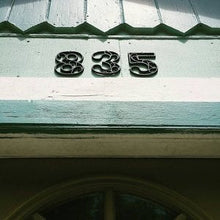 Load image into Gallery viewer, Cast Iron House Numbers 4.5 inches Copper Classy Accent Victorian Decor