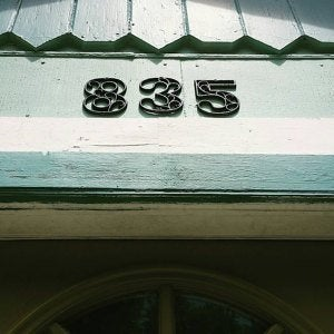 Cast Iron House Numbers 4.5 inches Copper Classy Accent Victorian Decor