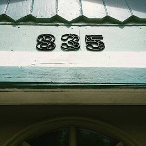 Mailbox Numbers Cast Iron Decorative Home Decor 4.5 inches Table Numbers Industrial Chic
