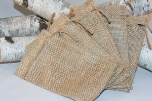 200 Burlap Bags 3x5 With Drawstring Rustic Packaging/Branding Wedding Reception Party Favors Supplies