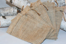 Load image into Gallery viewer, 30 Burlap Gift Bags 6x10 For Party Favors With Drawstring Jute Rustic Wedding Party Reception Supplies