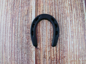 Lucky Horseshoe Black Miniature Rustic Decor Horse Lovers St Patricks Day Horse Shoe Cowboys Wild West Party Favor