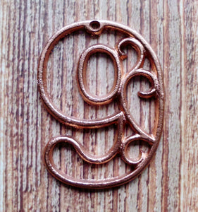 House Number Nine Metallic Copper Cast Iron Wall Hangers Cottage Chic Decor 4.5 inches Table Numbers