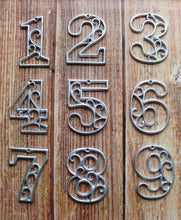 Load image into Gallery viewer, Mailbox Numbers Cast Iron Decorative Home Decor 4.5 inches Table Numbers Industrial Chic