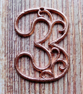 House Number Three  Metallic Copper Cast Iron Wall Hangers Decorative House Warming Gift 4.5 inches Table Numbers