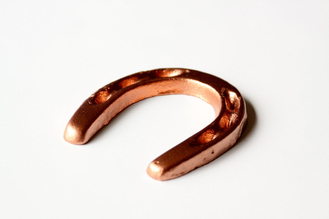 Small Horseshoe Metallic Copper Rustic Western Decor  Lucky Horse Shoe Cowboys Wild West Party Favor