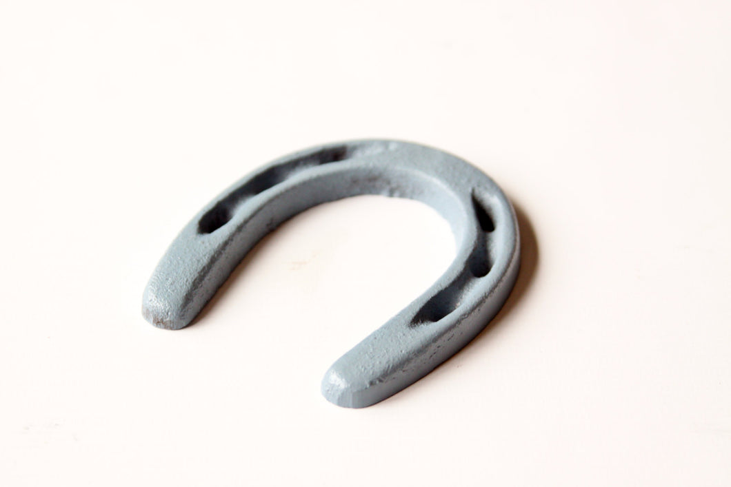 Mini Horseshoe Slate Blue/Grey Western Decor Rustic  Horse Shoe Wild West Cowboy Party Favor