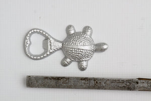 Bottle Opener Turtle Metallic Silver Cast Iron Nautical Beach Decor