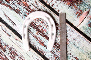 Small Horseshoe White Wedding Favor Western Decor Rustic Horse Shoe Wild West Cowboy Party Favor