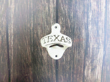 Load image into Gallery viewer, Texas Bottle Opener Ivory Wall Mounted Rustic Cast Iron Primitive Decor