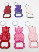 Load image into Gallery viewer, Owl Keychain Bottle Opener Pick Your Color Cast Iron Key Chain Bar Accessory Beer Soda Pop Woodland Creature
