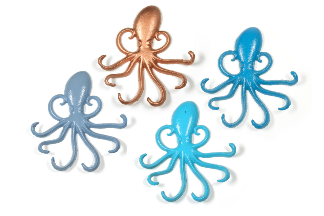 Octopus Wall Hooks Cast Iron Nautical Decor Pick Your Color