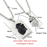 Anatomical Heart Matching Couples Necklaces