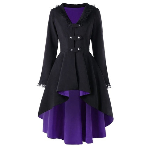 """Reznor"" Trench Coat Purple / L"