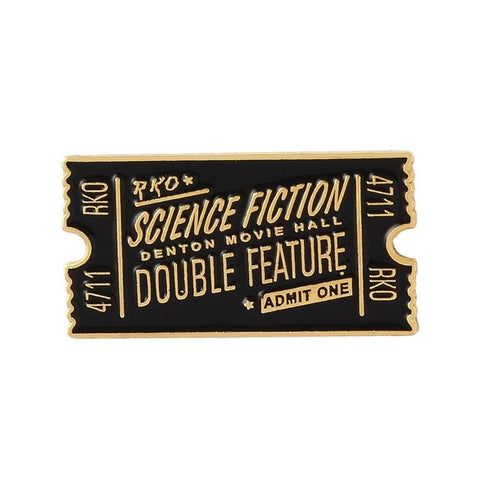 Science Fiction Double Feature RKO Ticket Pin Default Title