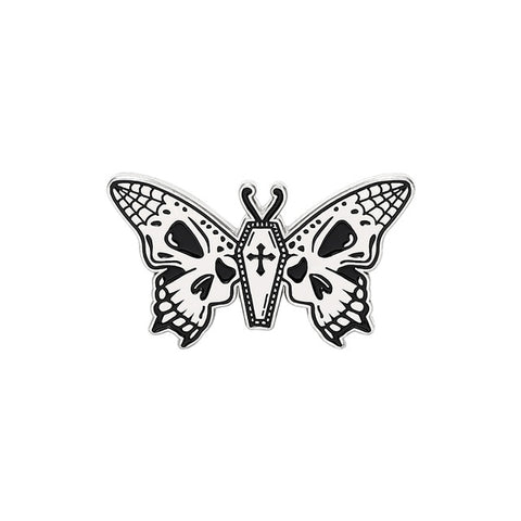 Skull Wings Butterfly Pin Default Title