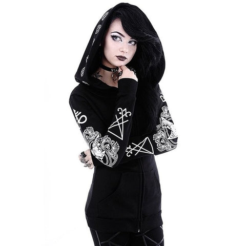 Baphomet Hoodie | Plus Sizes Available S