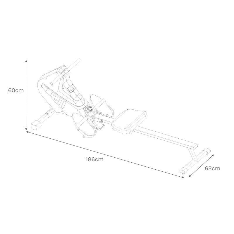 ROWER442 Assembled Size