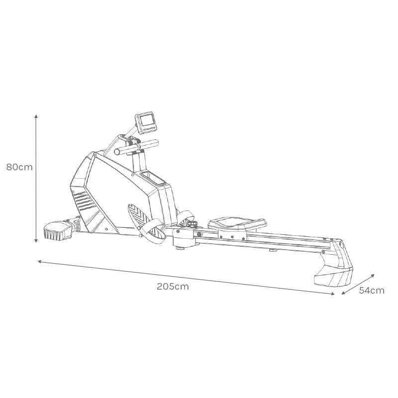ROWER605 Assembled Size