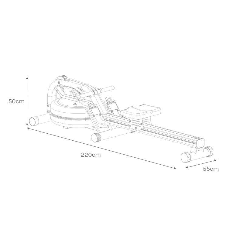 ROWER700 Assembled Size