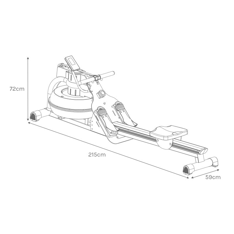 ROWER810 Assembled Size
