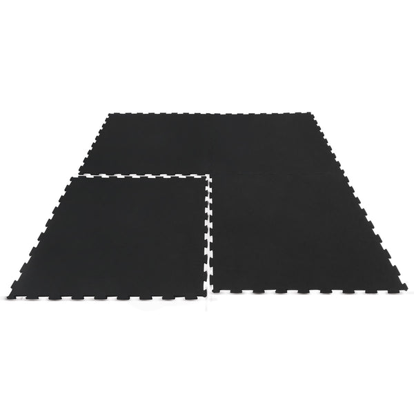 Interlocking Rubber Gym Floor Mat 15mm Set of 16