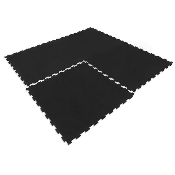 Interlocking Rubber Gym Floor Mat 15mm Set of 9