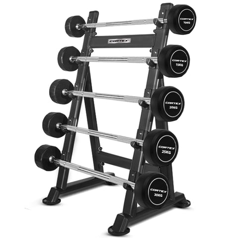 ALPHA Series 100kg Fixed Barbell Set + Stand