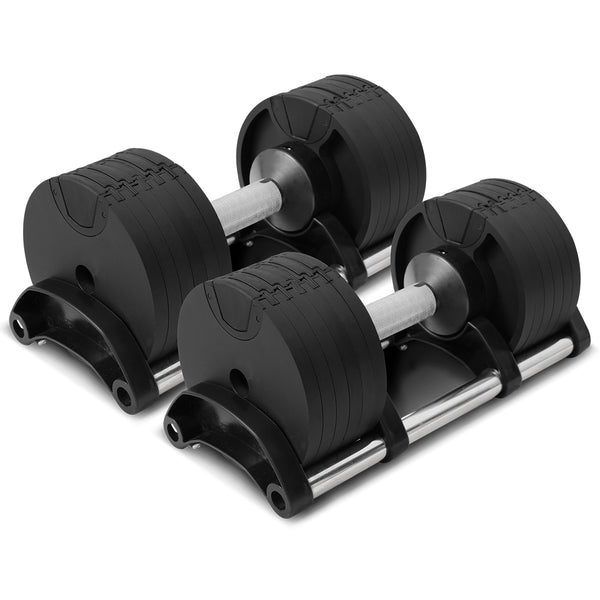 CORTEX RevoLock 40kg Adjustable Dumbbell Set with Stand (20kg Pair)
