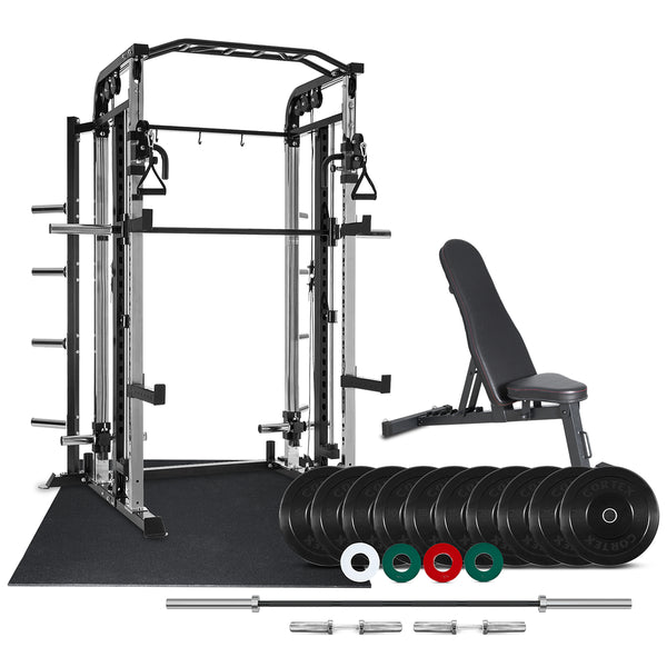 CORTEX GS-10 Multi-Function Smith Machine 146kg Home Gym Package