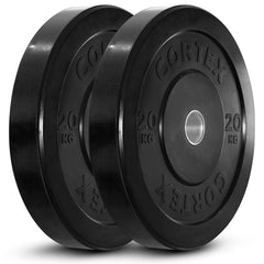 CORTEX 20kg Black Series Bumper Plates (Pair)