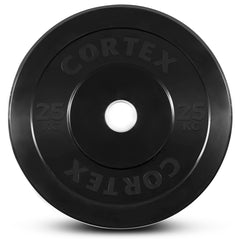 CORTEX 25kg Black Series Bumper Plates (Pair)