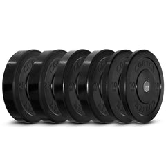 CORTEX 110kg Black Series Bumper Plate Set