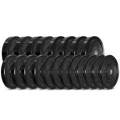CORTEX 320kg Black Series Bumper Plate Set With ZEUS100 Barbell