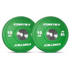CORTEX 10kg Competition Bumper Plates (Pair)