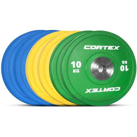 CORTEX 90kg Competition Bumper Plates Set