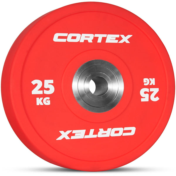 CORTEX 170kg Competition Bumper Plates Set with Competition Barbell