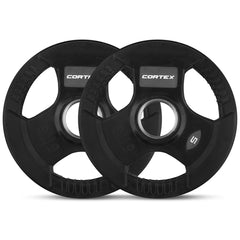 CORTEX 5kg Tri-Grip 50mm Olympic Plates (Pair)