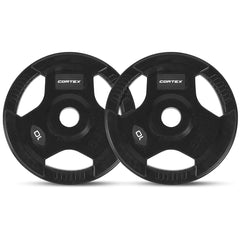 CORTEX 10kg Tri-Grip 50mm Olympic Plates (Pair)