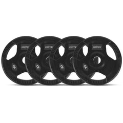 CORTEX 10kg Tri-Grip 50mm Olympic Plates (Set of 4)
